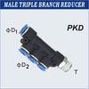 Male Triple Branch Reducer
